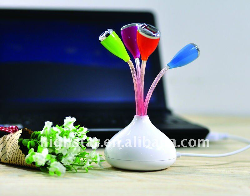 Charming Flower Shape 4 ports usb hub driver 2.0