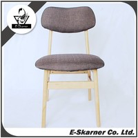 E-Skarner eco colorful high quality dining chair with wooden base