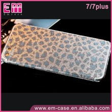 Glitter Leopard Full Body Stickers Film For iPhone 7 7Plus