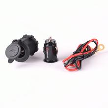12V 5V Power Outlet 1A 2.1A Dual 2 USB Port Charger Cigarette Lighter Socket Splitter For Car Auto Motorcycle Truck Boat Marine