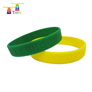 202*12*2mm Customized Debossed New Products Promotional Hand Bracelets Silicone Wristband Rubber Steel Silicon Bracelet Metal
