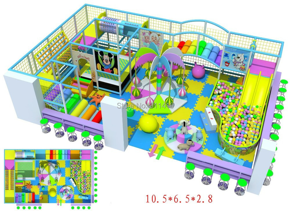 Ihram Kids For Sale Dubai: CE Certified Indoor Playground Equipment With Double Slide