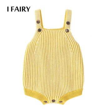 Newborn Striped Jumpsuit Infant Sweater Clothing Knit Baby Romper