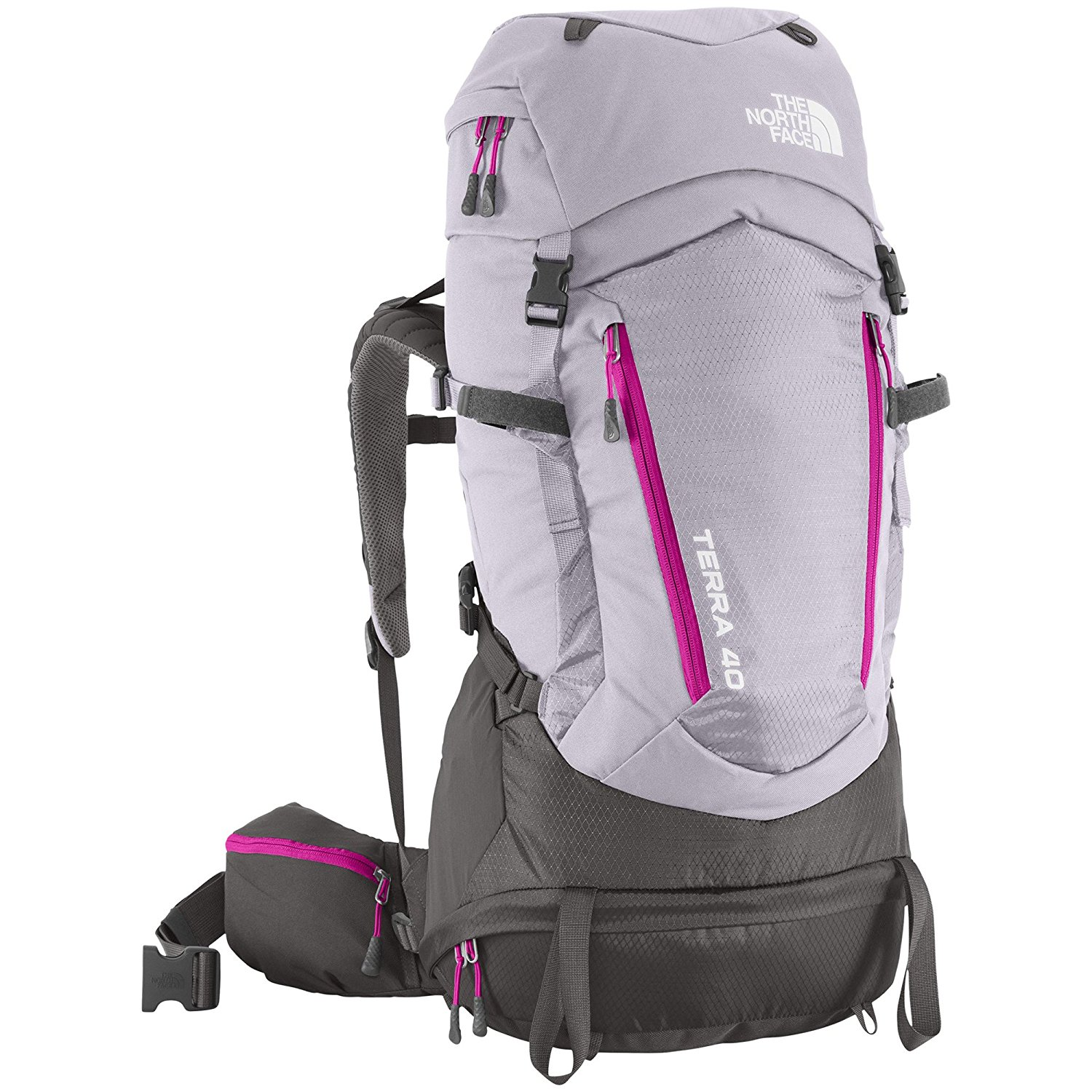 712322c2 Get Quotations · The North Face Terra 40 Hiking Backpack Womens (Dapple  Grey/Fuchsia Pink, XS