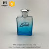 100ml blue color glass spray perfume bottle with silver cap