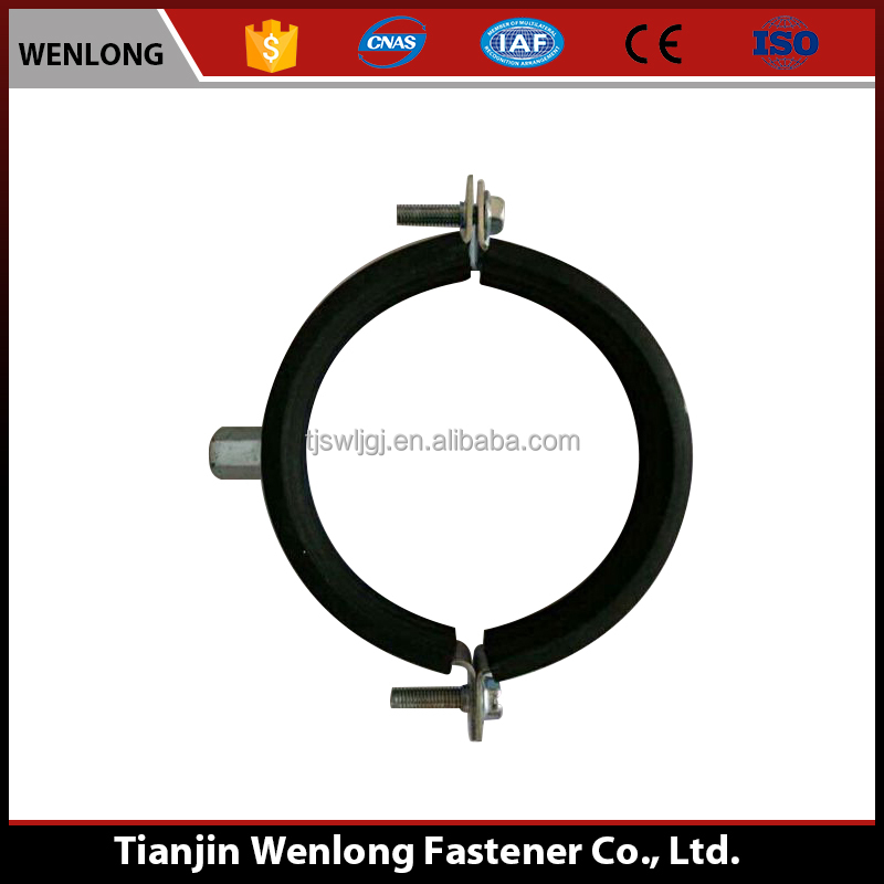 China factory Tianjin secure Rubber Supporting Hose Pipe Clamp
