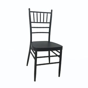 dubai wholesale new metal steel modern stackable event party black chiavari tifany chair wedding