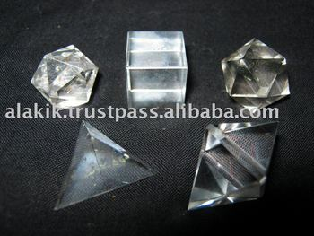 Crystal Quartz Sacred Geometry Sets