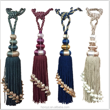 Factory Wholesale New Designs Decorative Elegant Wood Curtain Tassel