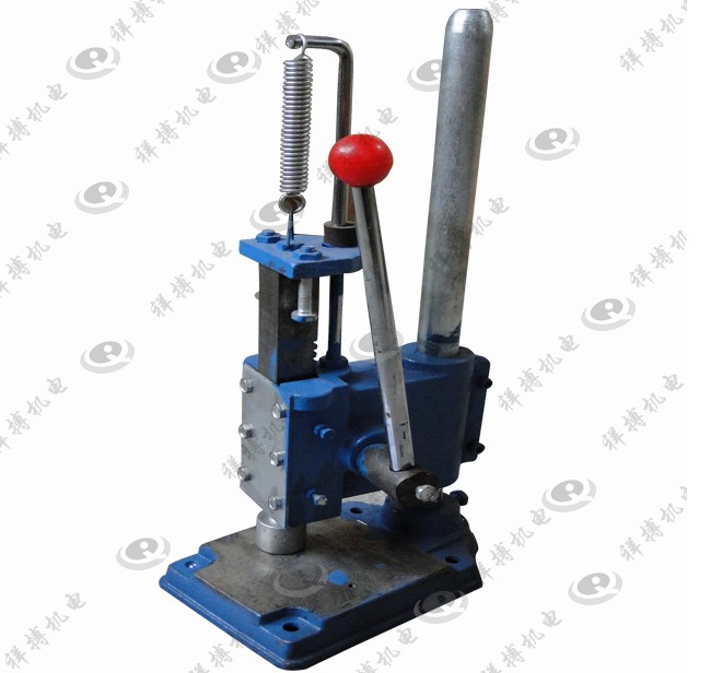 Beer crown cap manual bottle capper machine