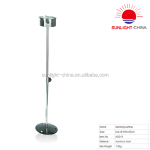 2018 hot sale adjustable stainless steel outdoor ashtray/standing ashtray/stand up ashtray