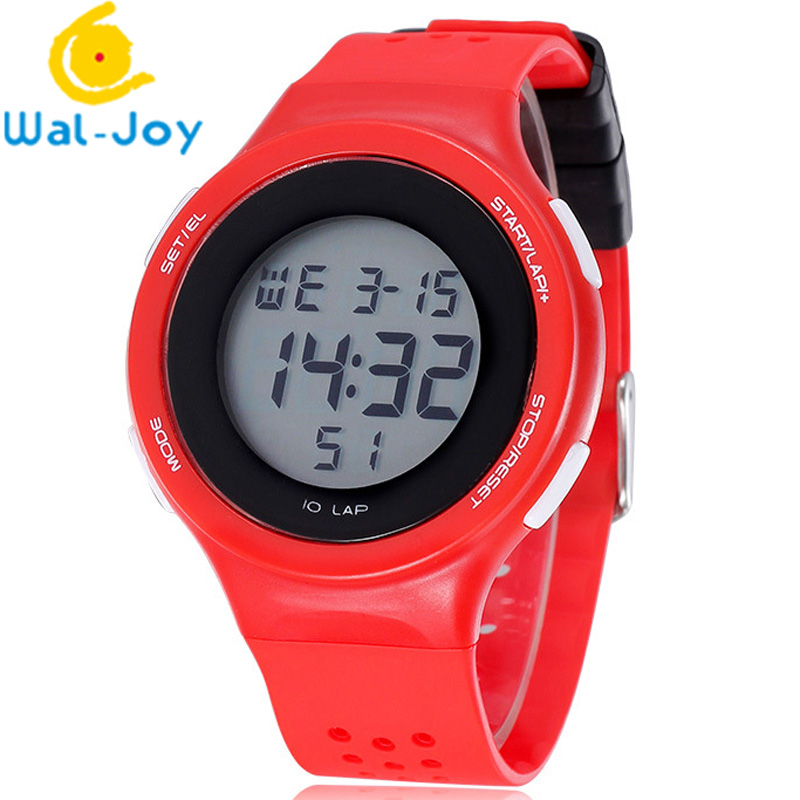 WJ-6381 Vogue Shhors Silicone Band Unisex Student Digital Sport Watch