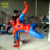 Large Television Hero Character Fiberglass Resin Spider-Man Statues Sculptures For Sale