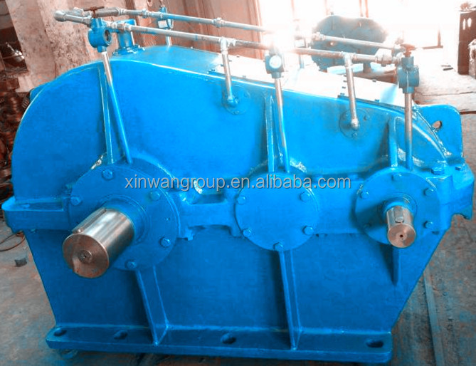 China ZL series paralle shaft 3 helical gear reducer 2 steps reduction