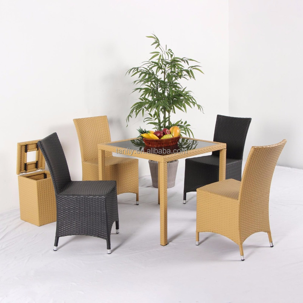 Hot Sell Outdoor Furniture Rattan/Wicker Cheap Garden Patio Table and Chair TF-6103