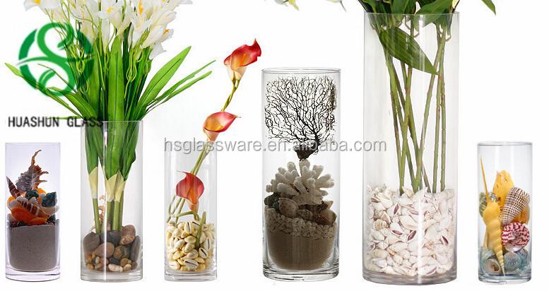 Hot Sale Straight Hurricane Glass Vases Wedding ...