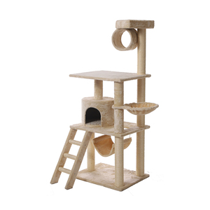 Petstar Factory Supply Moisture-proof luxury large cat scratcher tree wood cat tree