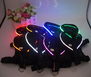 LED specialized design oem weighted dog harness vest