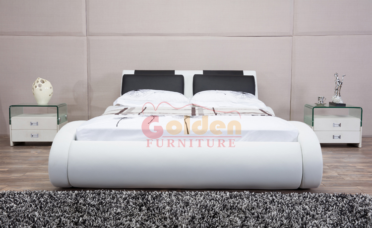 G1111 Golden factory offer new style double bed designs