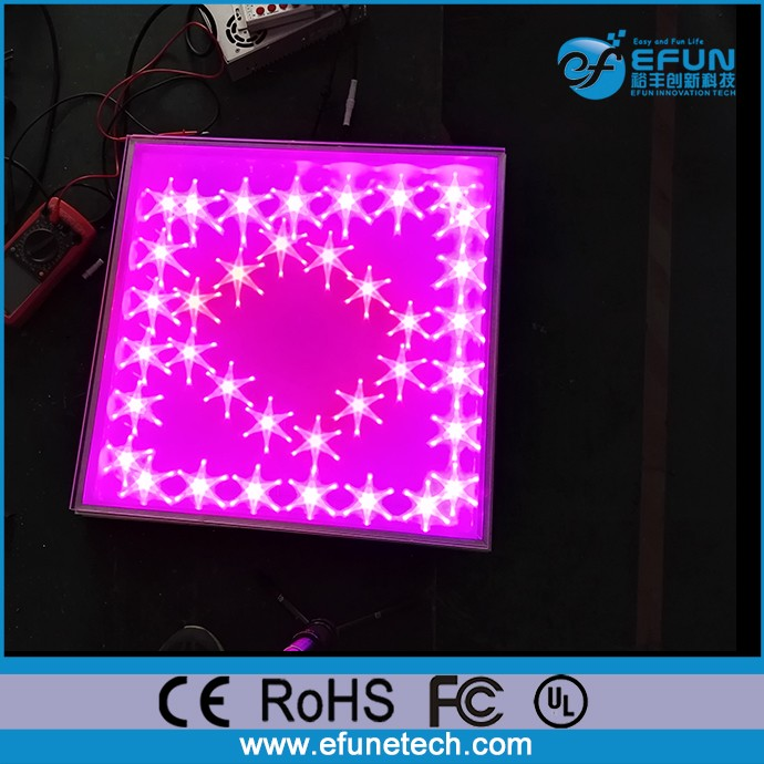 2017 newly product tempered glass RGB color changing starlit magic led dance floor