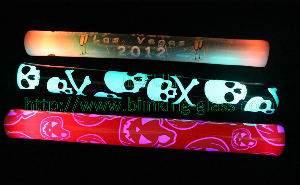 custom led foam glow sticks , Halloween led foam stick
