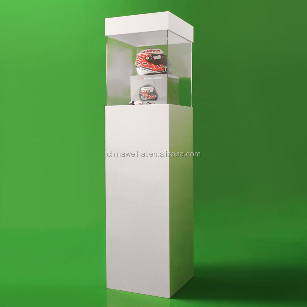 Big White Acrylic Pillar Display