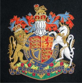 Inggris Crest Emblemmiliter Emblem Crest Patchmiliter Emas