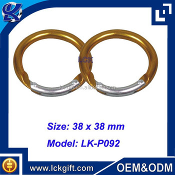 Round Carabiner Metal Ring Round Carabiner Round Carabiner Clip