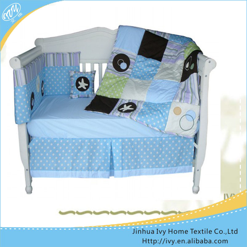 100% cotton patchwork baby crib bedding set beedding set