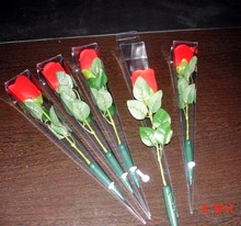 Red rose with led light and lovely song for Valentine's gift