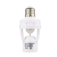 E27 Sensor Lamp Holder 110-240V E27 PIR Motion Sensor Lamp Socket