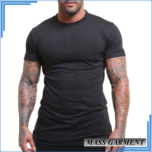 High Quality Round Neck Black T- Shirt Men Cotton Sport Wear Clothing