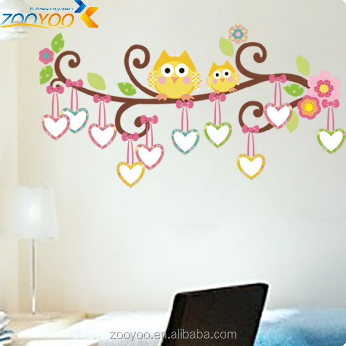 Kids Playroom Decorations Photo Frame Owl Wall Stickers Zooyoo Art  Removable Pvc Wall Stickers Home Decor Part 57