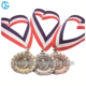 Free design custom 3d metal gold silver copper running sports award medal