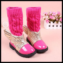 TS1020 Wings new Korean female baby shoes girls boots tide boots