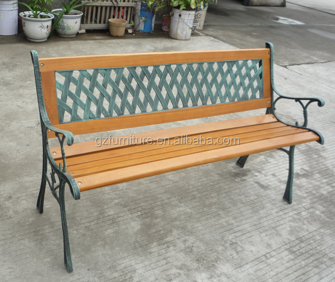 Park Bench Parts Suppliers: Black Metal Garden Bench Seat Outdoor Seating W