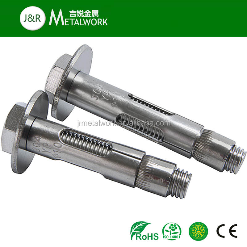 M10 M12 M16 M24 SS Stainless Steel Hex Bolt Expansion Sleeve Anchor Bolt