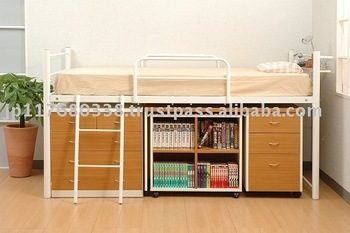 Mid Height Metal Bed Frame With Storage Space Bib 004