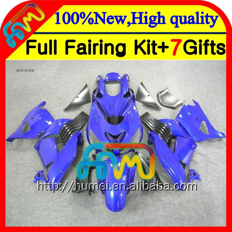 Body For KAWASAKI NINJA ALL Blue ZX14R 12-14 ZX-14R 25CL4 ZX 14R 12 13 14 12 ALL Glossy blue 13 ZX14 R 2012 2013 2014 ZX 14 R Fa