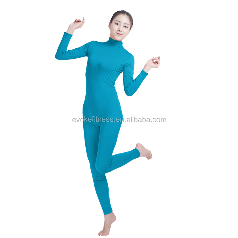 Blue Boat Neck Adult Full Body Without Hand/Feet Ballet Unitard/Dance Costume/ Gymnastics Leotard/Cosplay Wear