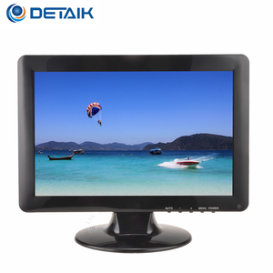Detaik 12 inch 16:9 led monitor cheap price 12 inch tft lcd tv monitor with vga connector