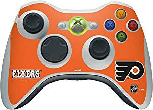 NHL Philadelphia Flyers Xbox 360 Wireless Controller Skin - Philadelphia Flyers Logo Vinyl Decal Skin For Your Xbox 360 Wireless Controller