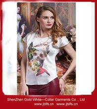 OEM women's high quality silk screen printing t-shirt