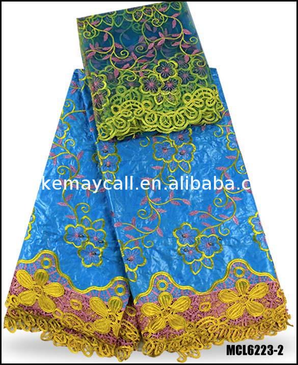 high quality cotton bazin riche getzner with beads wholes printed lace blouse 2017 latest african fabric 5yard+2yard/lot