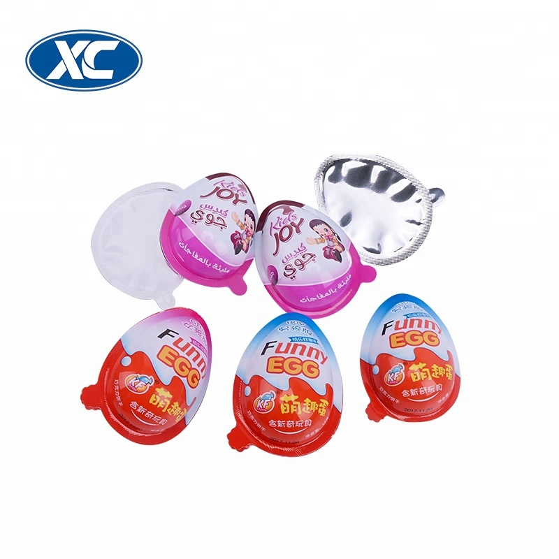 customize chocolate surprise egg pvc filling machine food grade packaging