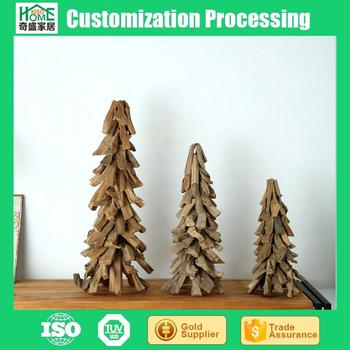 Factory Outlets Simple Wood Crafts Handwork Customize Christmas Tree