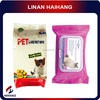 China manufacturer OEM wholesale disposable pet deodorant wet wipes