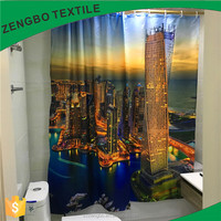 cheap price periodic table waterproof shower curtain