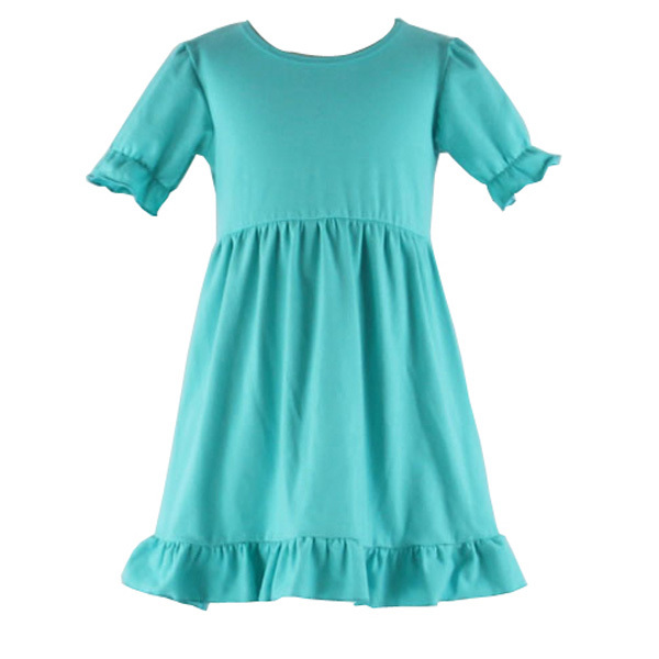 Boutique 2016 Baby Fancy Frock Design For Kids Solid Teal Ruffle ...