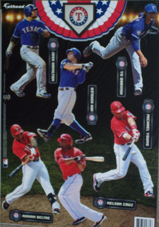 2012 Texas Rangers Fathead MLB 6 Player Team Set Official Wall Graphics